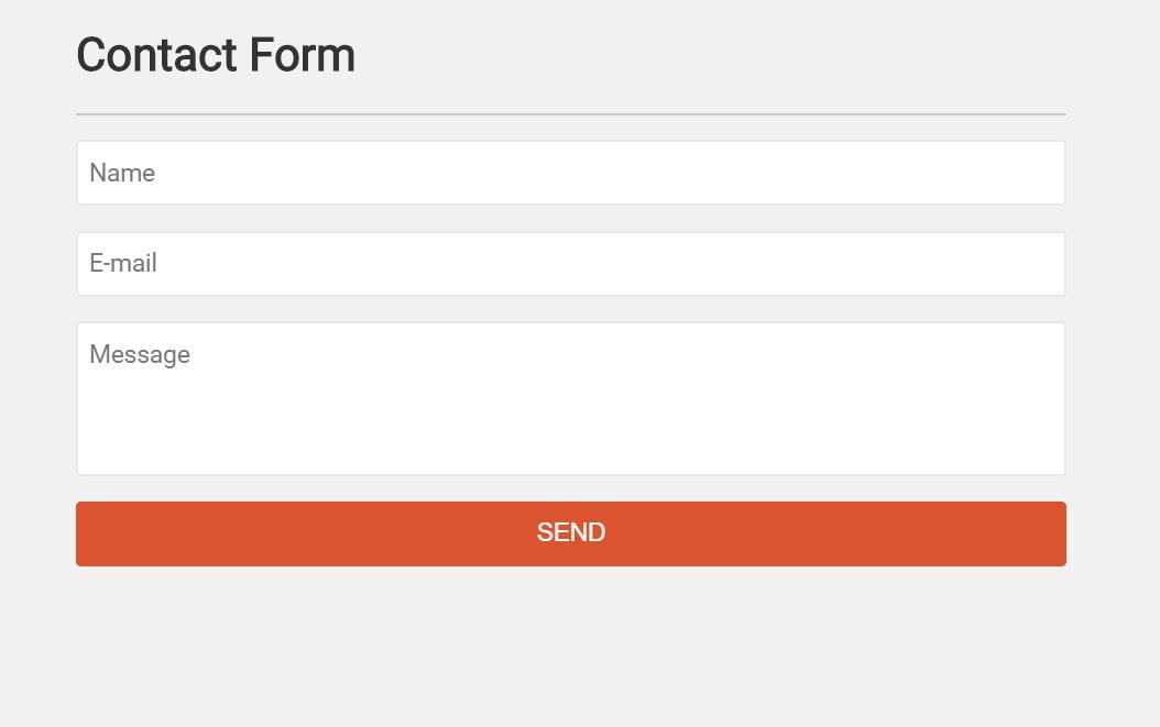 Vue Contact Form Component