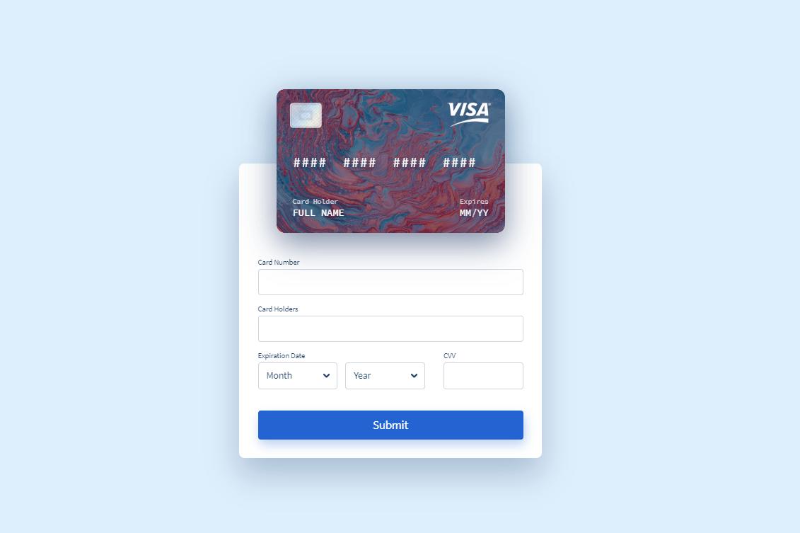 Vue Credit Card Form Component