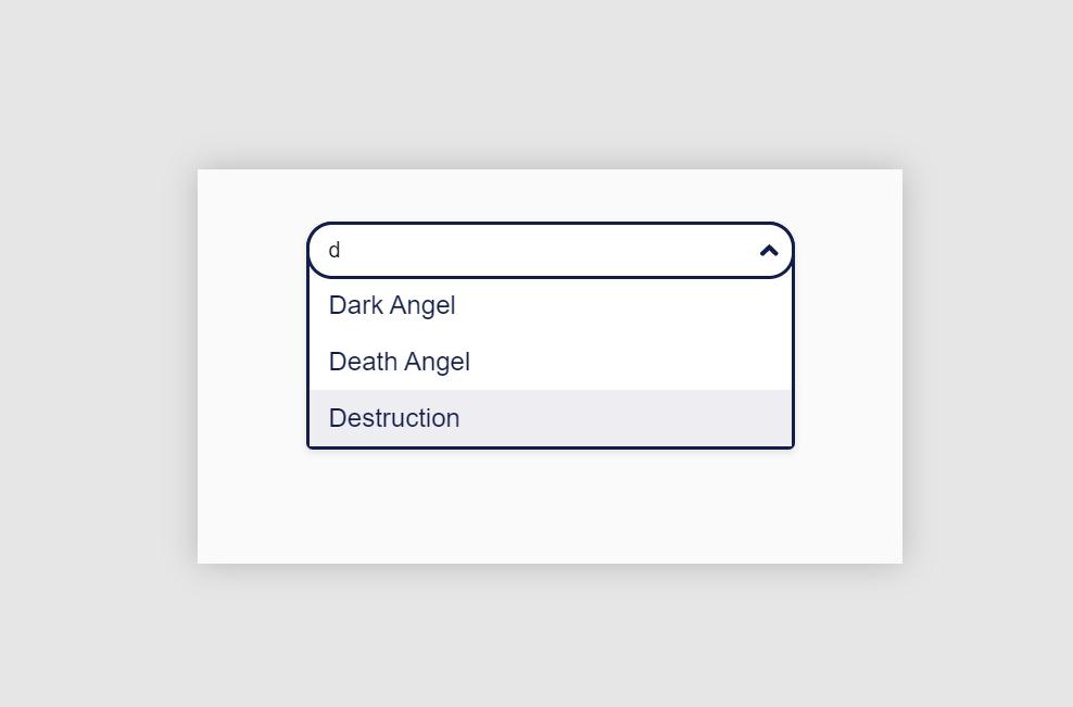 Vue.js Dropdown Search Component Design