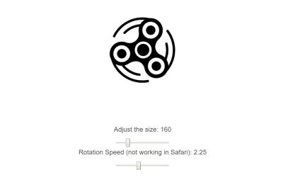 Vue.js Fidget Spinner Example