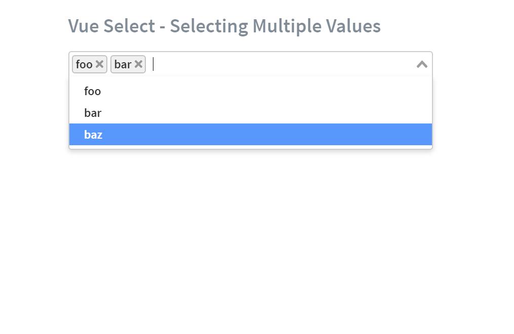 Vue JS Multiselect Component