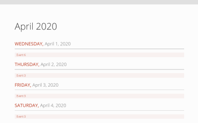 Vue JS Scheduler Calendar Example