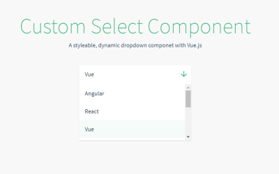 Vue JS Select Custom Example