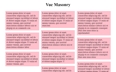 Vue Masonry Simple Component