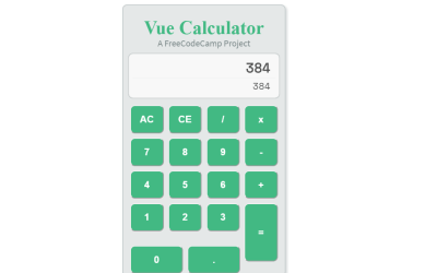 VueJS Calculator Simple Application