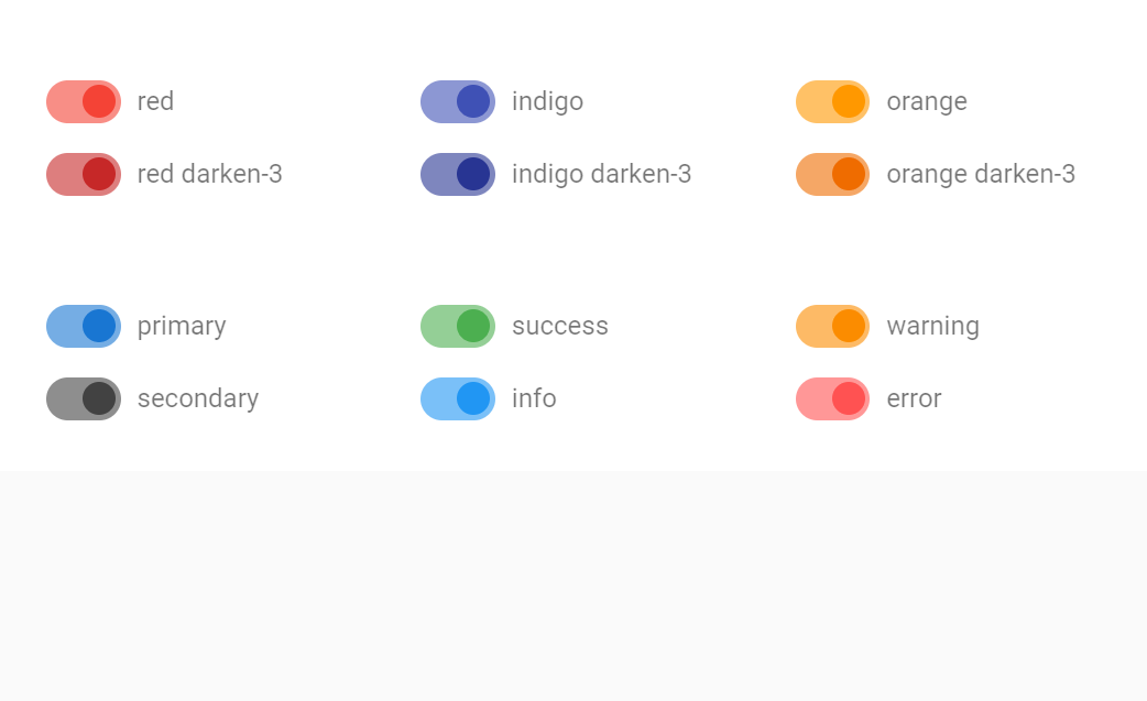 Vuetify Switch Button Examples