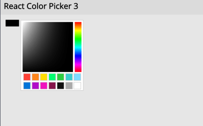 Color Picker ReactJS Example