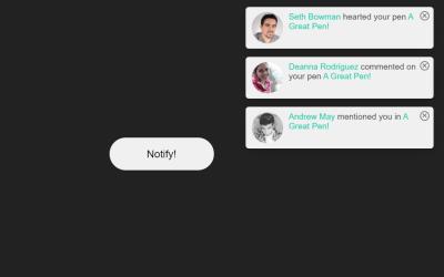 JavaScript Notification Example