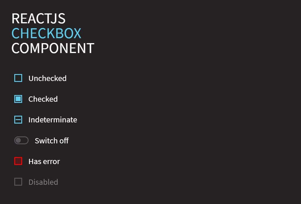 Multiple Checkbox in React JS