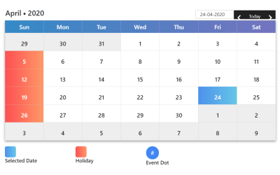 React Big Calendar Simple Design