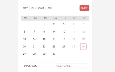 React Calendar Picker Component
