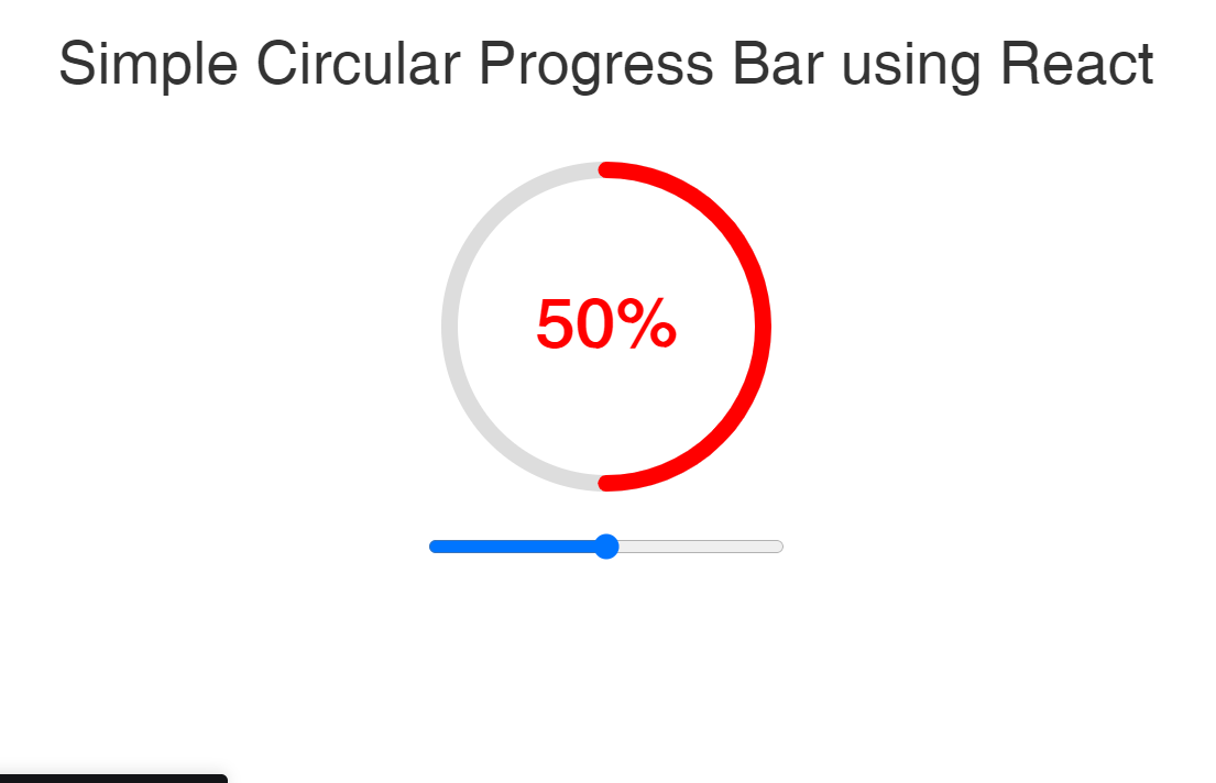 React Circular Progress Bar