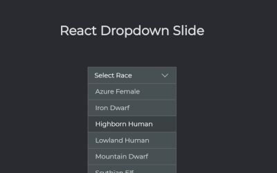 React.js Dropdown Slide Animation