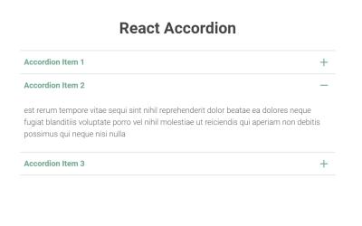 ReactJS Accordion Code Example