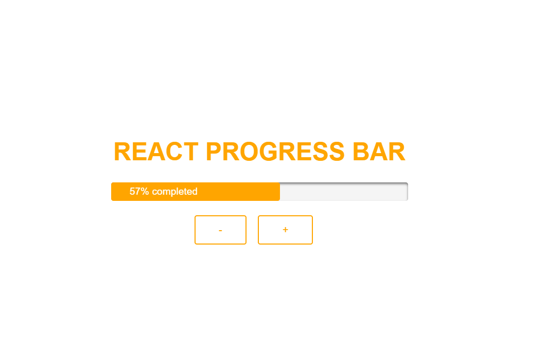 ReactJS Percentage Progress Bar