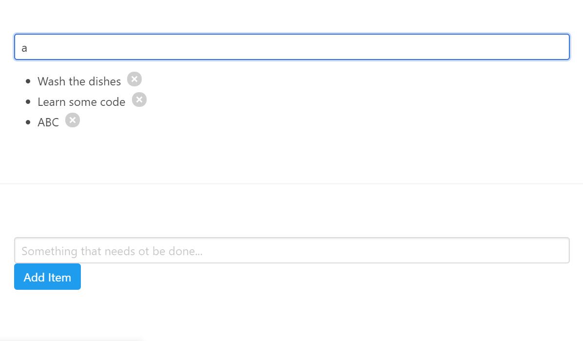 Search Bar React Example