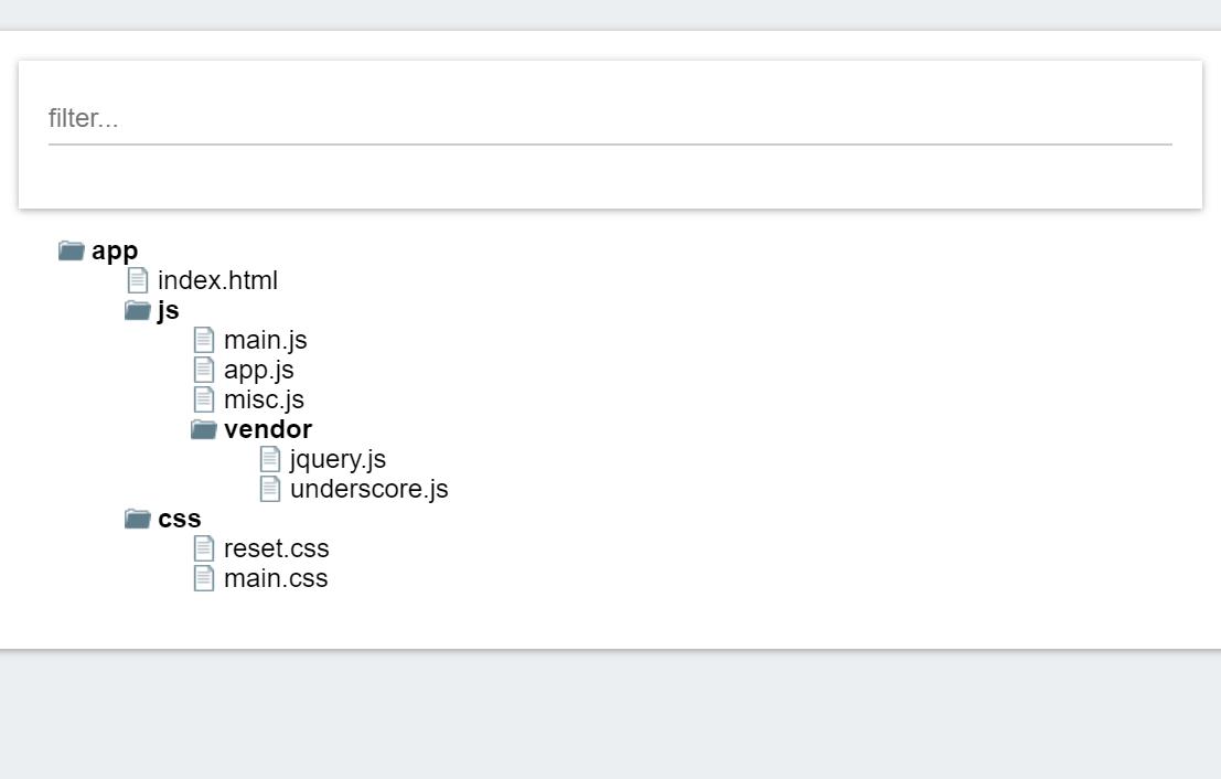Tree Folder ReactJS Example