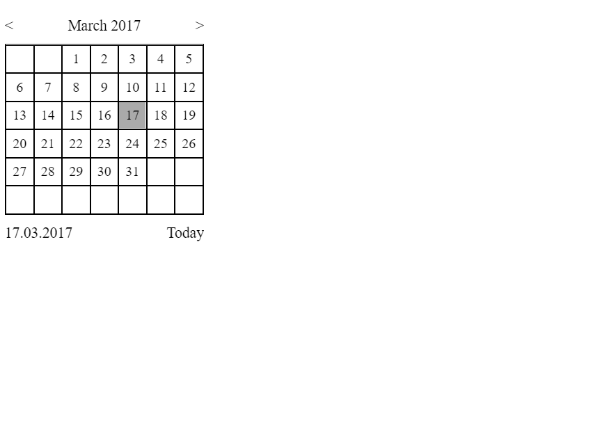 ReactJS Date Selector