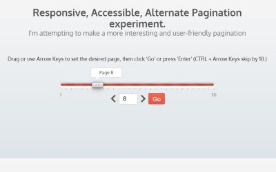 Responsive Accessible Alternate Pagination