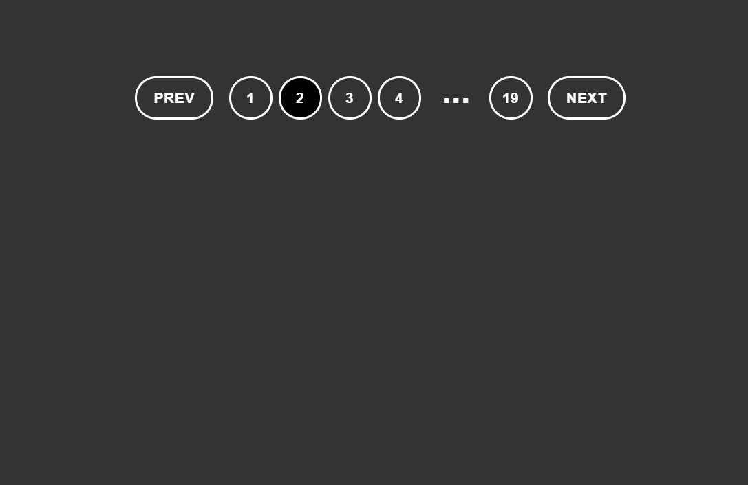 Simple And Clean Web Pagination