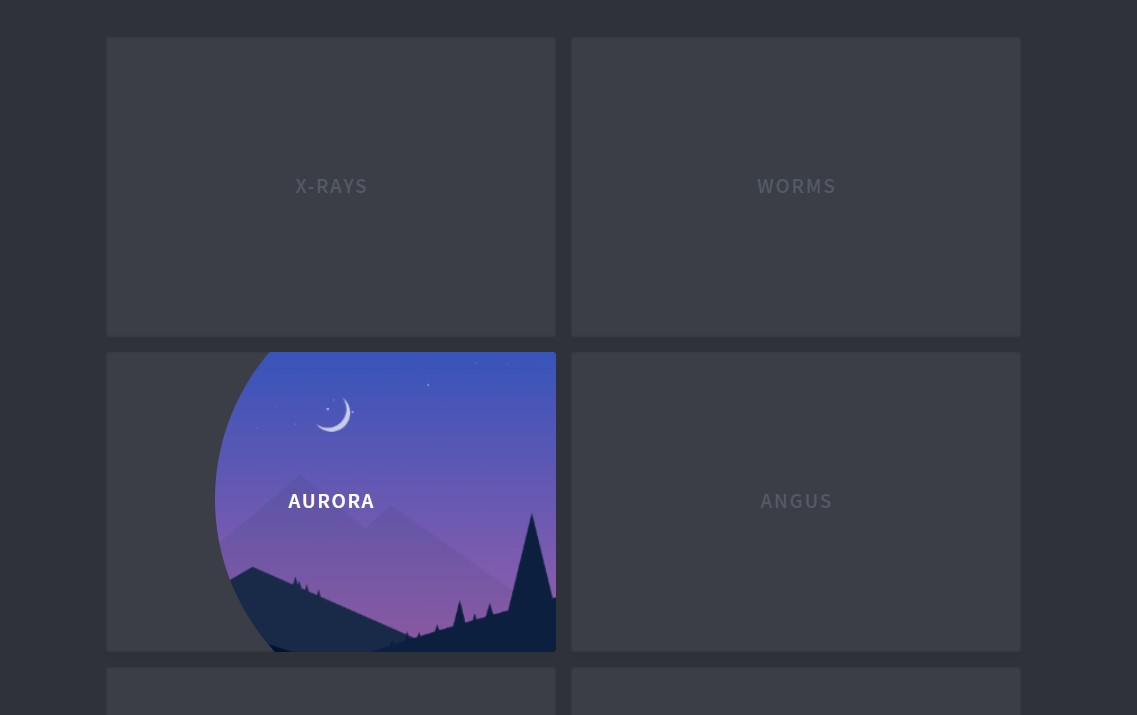 SVG Clip-path Thumbnail Hover Effect