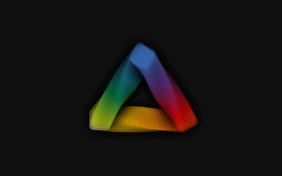 Chromatic Triangle CSS Animated Concept