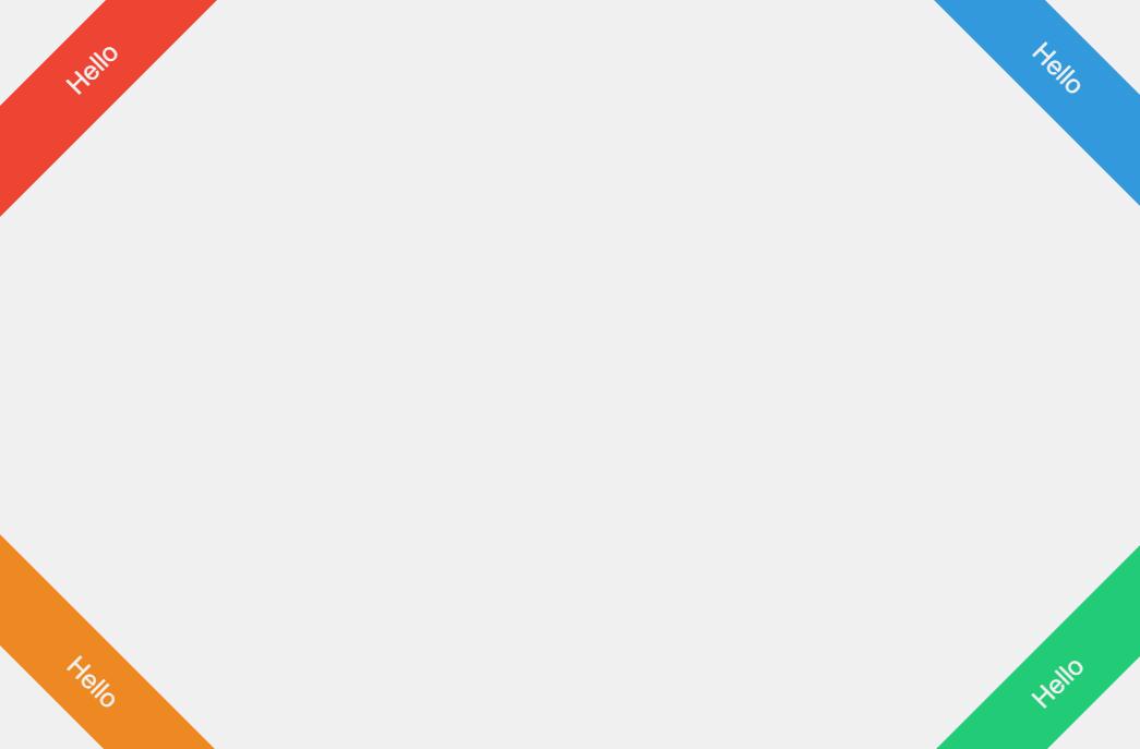 Four Corner Ribbons Flat CSS UI Design