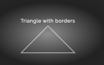 Simple CSS Triangle Shape with Borders