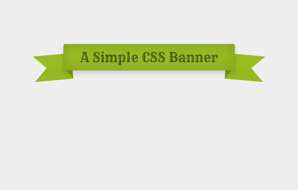 Single Element CSS Ribbon Banner Concept