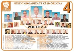 Kandidátní listina MO ČSSD Orlová