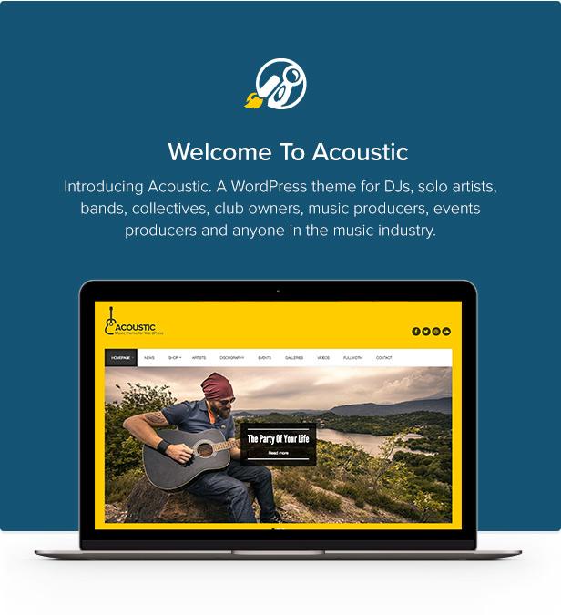 Acoustic - Premium Music WordPress Theme - 1
