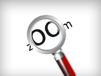 Magnifier Lens Vector Icon