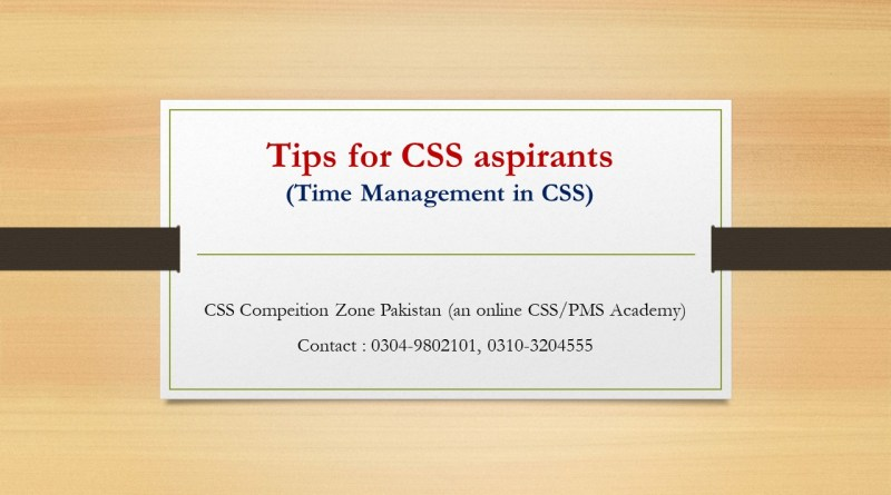 Time management and Tips for CSS aspirants - CSS Online Academy