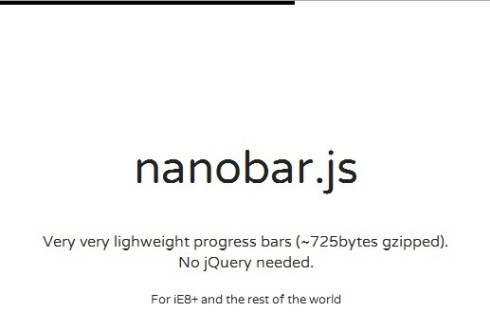 Lightweight Slim Javascript Progress Bar – nanobar
