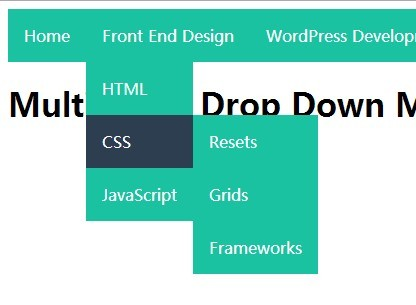 Create A Multi-Level Drop Down Menu with Pure CSS | CSS Script