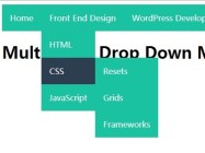 Create A Multi-Level Drop Down Menu with Pure CSS