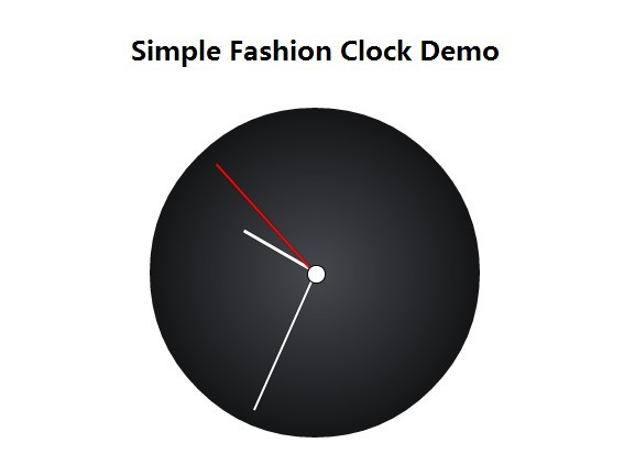 Create A Simple Fashion Clock with Javascript and CSS3