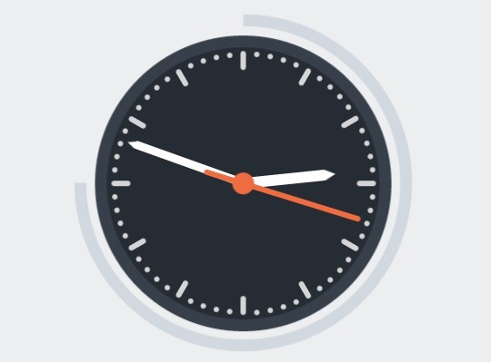 Creating A Flat Clock with CSS3 Transitions and Transforms