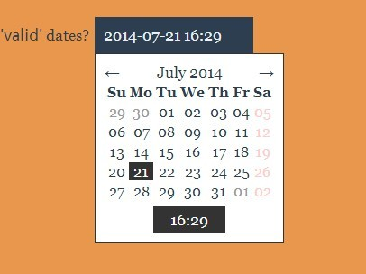 Highly Customizable Date and Time Picker with Rome js | CSS