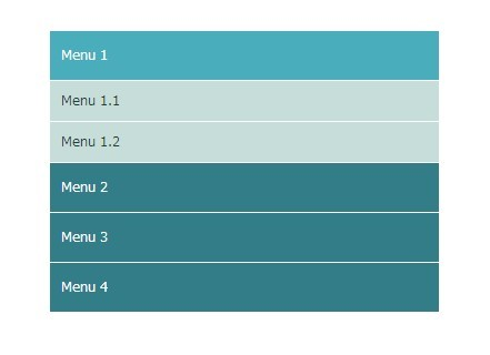 Multilevel Accordion Menu with Plain HTML & CSS | CSS Script