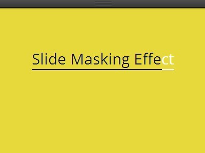 Text Slide Masking Effect with CSS3 Transitions | CSS Script