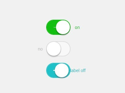 iOS 7 Style Switches with Pure CSS CSS3