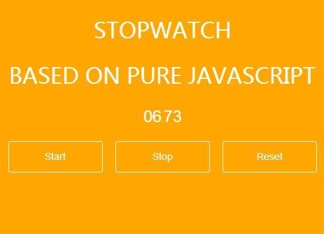 A Minimal Pure Javascript Stopwatch