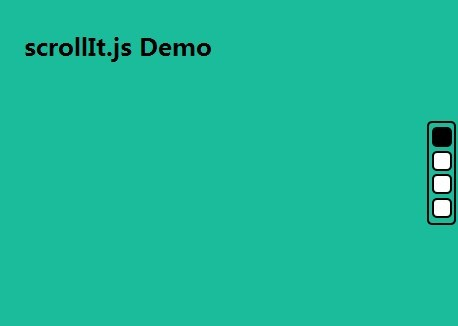 Pure JavaScript Library For One Page Scrolling Website – scrollIt.js