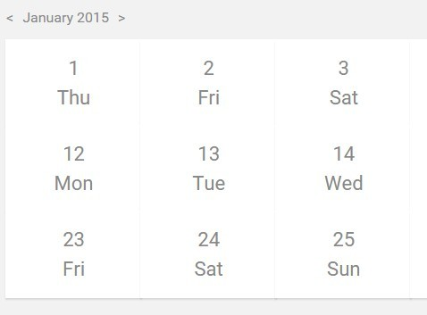 Simple Responsive Month Calendar with JavaScript and CSS