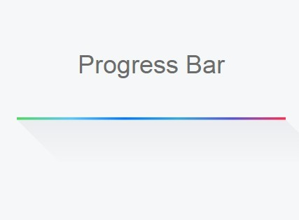 iOS Style Gradient Progress Bar with Pure CSS/CSS3