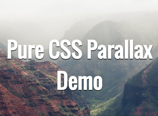 Pure CSS Parallax Scrolling Effect