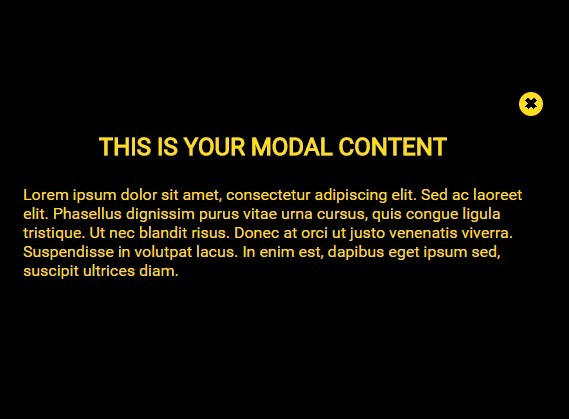 Accessible Fullscreen Modal Popup with Pure CSS/CSS3