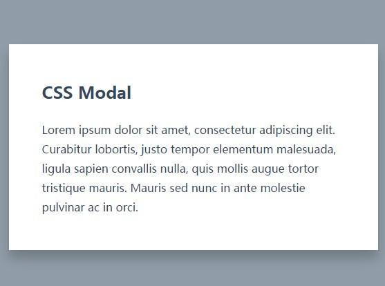 Simple Modal Box Using CSS and :target Pseudo Class   CSS Script
