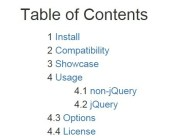 Generating A Table Of Contents with Pure JavaScript - TOC
